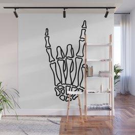 Heavy metal skeleton hand Wall Mural