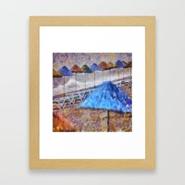 Beach Umbrellas In Impressionist Style Framed Art Print