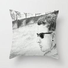 B/W I am not famous Throw Pillow