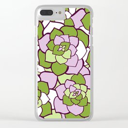 cold stone flowers Clear iPhone Case