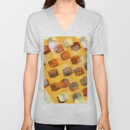transparent cubes Unisex V-Neck