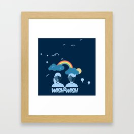 Dreamers, Unite! Framed Art Print