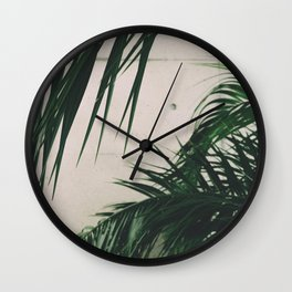 Tropical Palm Leaves Wall Clock