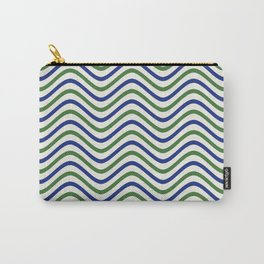 The Wave:  Blue + Green Carry-All Pouch