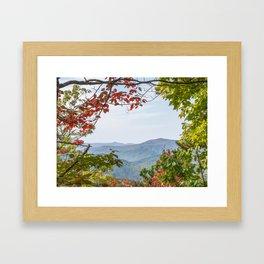 Blue Ridge Look Out Framed Art Print