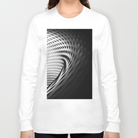 architecture black white Long Sleeve T-shirt