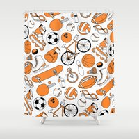 sports Shower Curtains featuring SPORTS by Shoreside