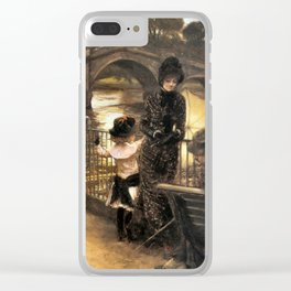 Vintage Art By the Thames at Richmond Clear iPhone Case