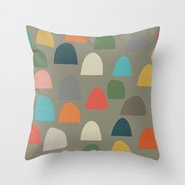 Modern Gumdrops Throw Pillow
