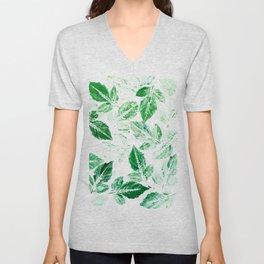 Green foliage Unisex V-Neck
