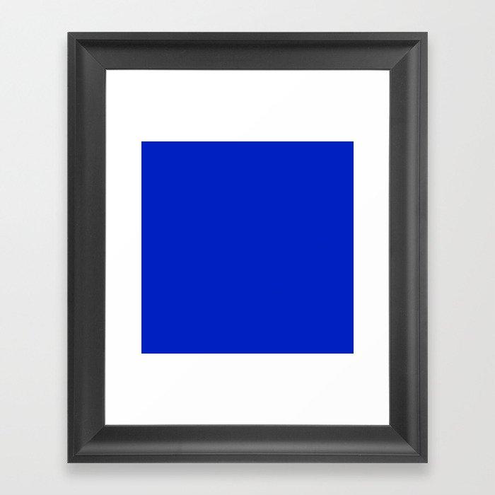 Solid Deep Cobalt Blue Color Gerahmter Kunstdruck