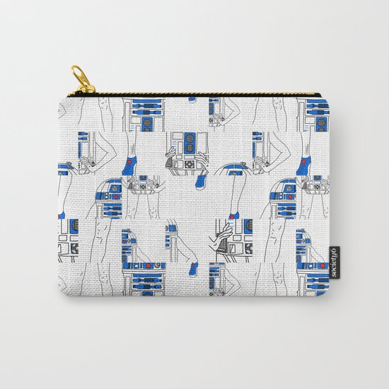 Robot Girl Cubism Carry-All Pouch