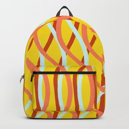 water wave reflection_mustard02 Backpack