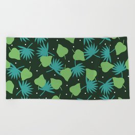 green pop Beach Towel