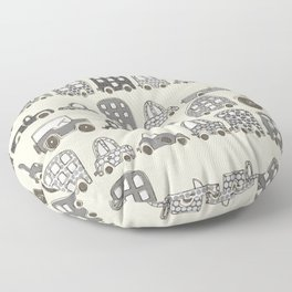 retro rides mono Floor Pillow