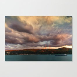 Sunsets over the other side Canvas Print
