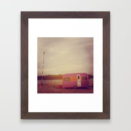 Faded Caravan Framed Art Print