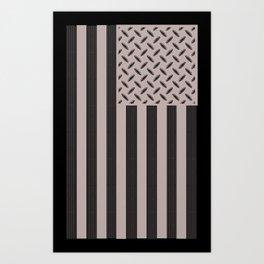 Plated Flag Art Print