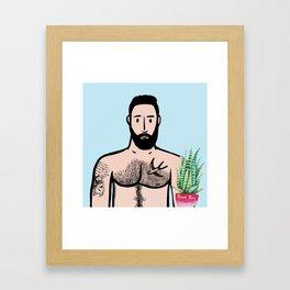Beard Boy: Javier Framed Art Print