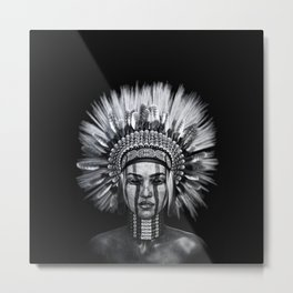Indian girl Metal Print