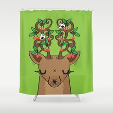 Love with Cherries on Top Shower Curtain