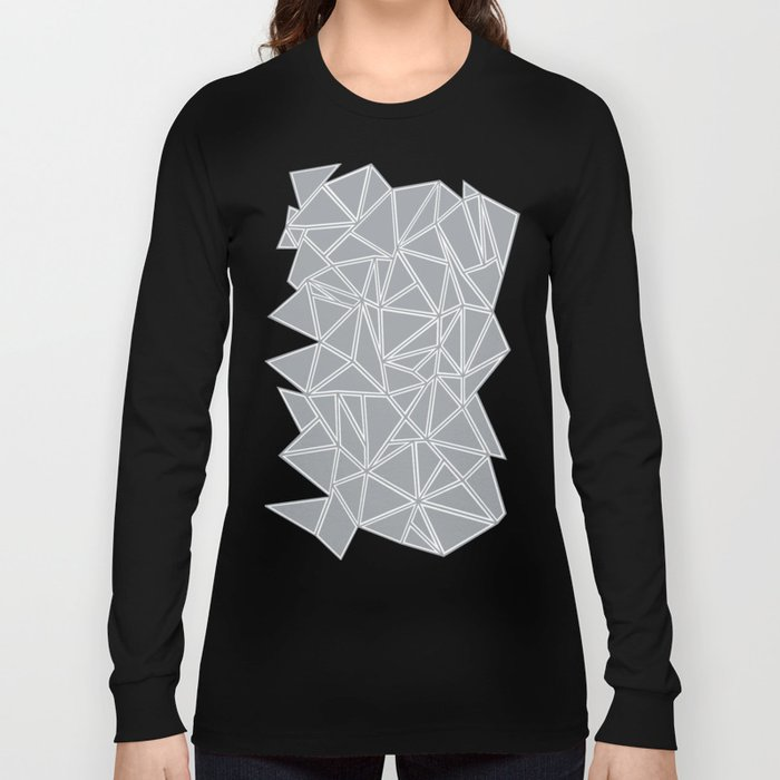 Shattered Ab Grey and White Long Sleeve T-shirt