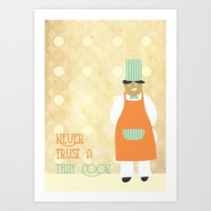 A wise old tip Art Print
