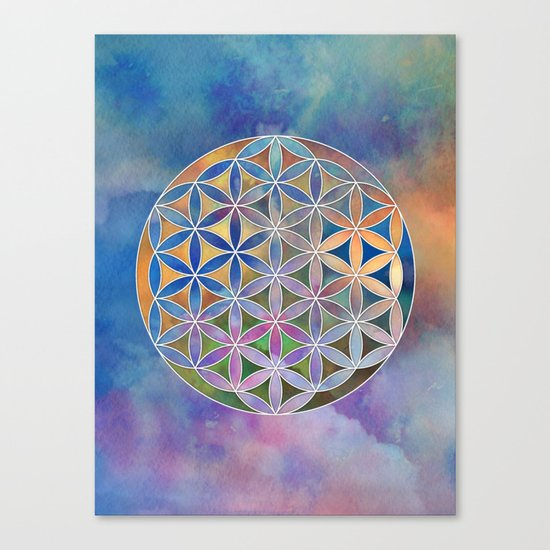 The Flower of Life in the Sky Canvas Print