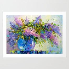 Bouquet of lilac Art Print
