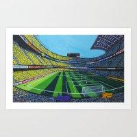 Barça's stadium ( Nou Camp ) Art Print