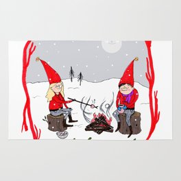 Snow and Stories Rug