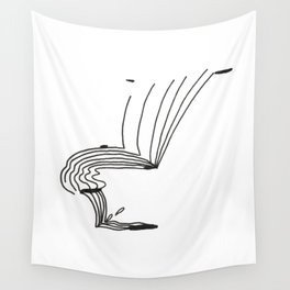 Lines That Fall Wall Tapestry