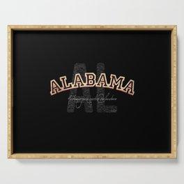 Alabama Vintage Retro Collegiate Serving Tray
