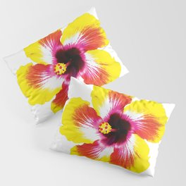 Hibiscus in Yellow Pillow Sham