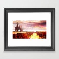 Desert Temple Framed Art Print
