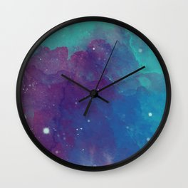 Watercolor night sky Wall Clock