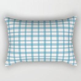 Blue checkered Rectangular Pillow