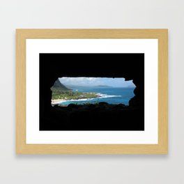 Kaneohe Bay As Seen From a WWII Bunker - Oahu, HI Framed Art Print