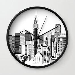 New York Black and White 2 Wall Clock