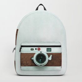Retro vintage leather camera Backpack