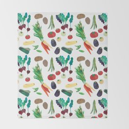 Love Your Veg Throw Blanket