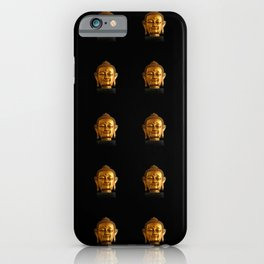 Budhha Golden Head by Lika Ramati iPhone Case
