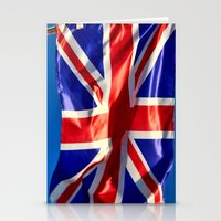england Stationery Cards featuring England Flag by Fine2art