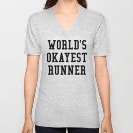 World's Okayest Runner Unisex V-Neck