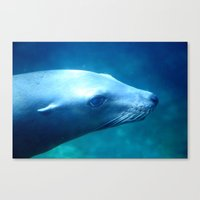 seal Canvas Prints featuring seal by Bunny Noir
