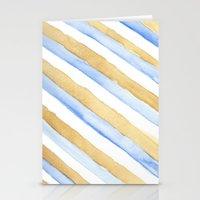 stripe Stationery Cards featuring Stripe by Louise Kjeldsen