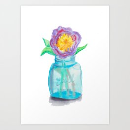 Jar Flower Art Print