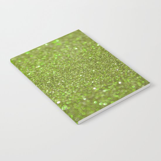 Bright Lime Glitter Notebook