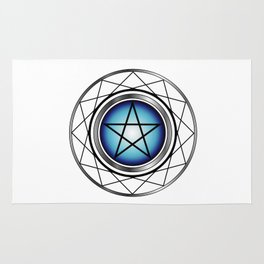 Glowing Pentagram Rug