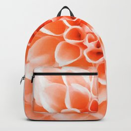 Digital Illustration of a Floral Bouquet with a Light Orange Chrysanthemum in the Centre Backpack